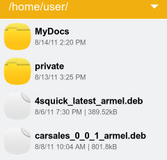 Nokia N9 file manager