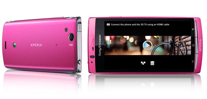 Xperia arc S color rosa Telcel