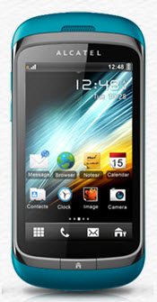 Alcatel-OT-818D Blue