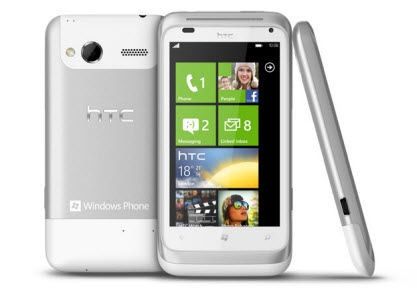 HTC radar color blanco