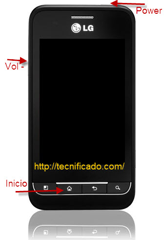 Hard reset LG optimus 2 AS680
