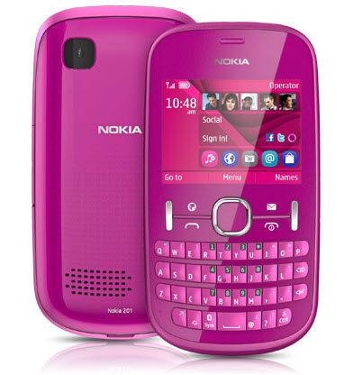 Asha 201 Telcel color rosa