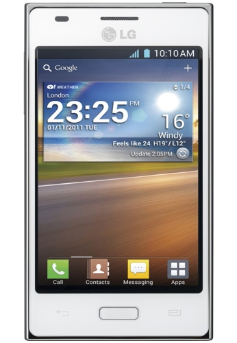 LG E612 Optimus L5 Telcel color blanco