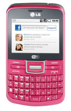 LG Text it chat c193  Telcel color rosa