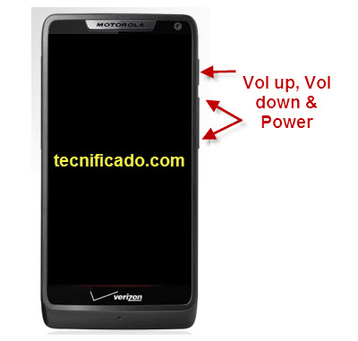 How to hard reset a motorola droid razr