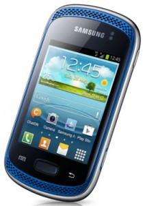Samsung galaxy music color azul