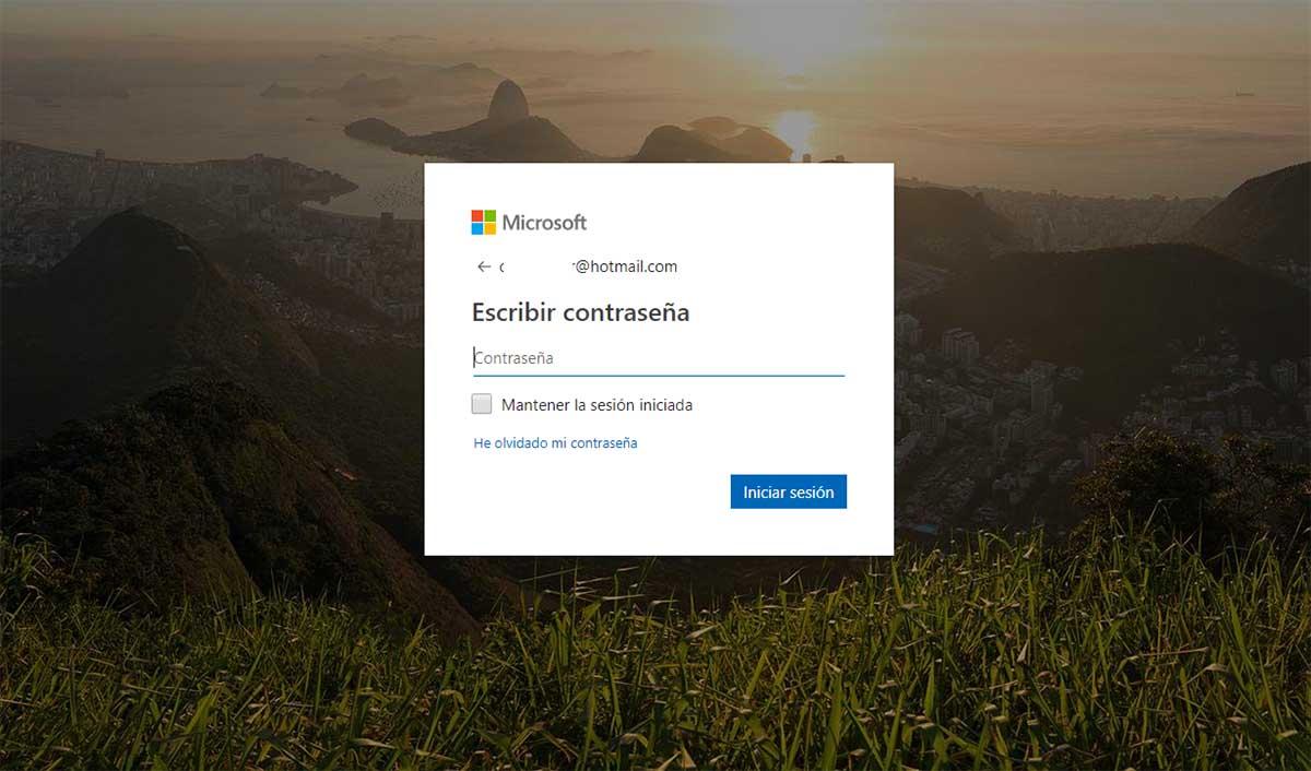 Hotmail password