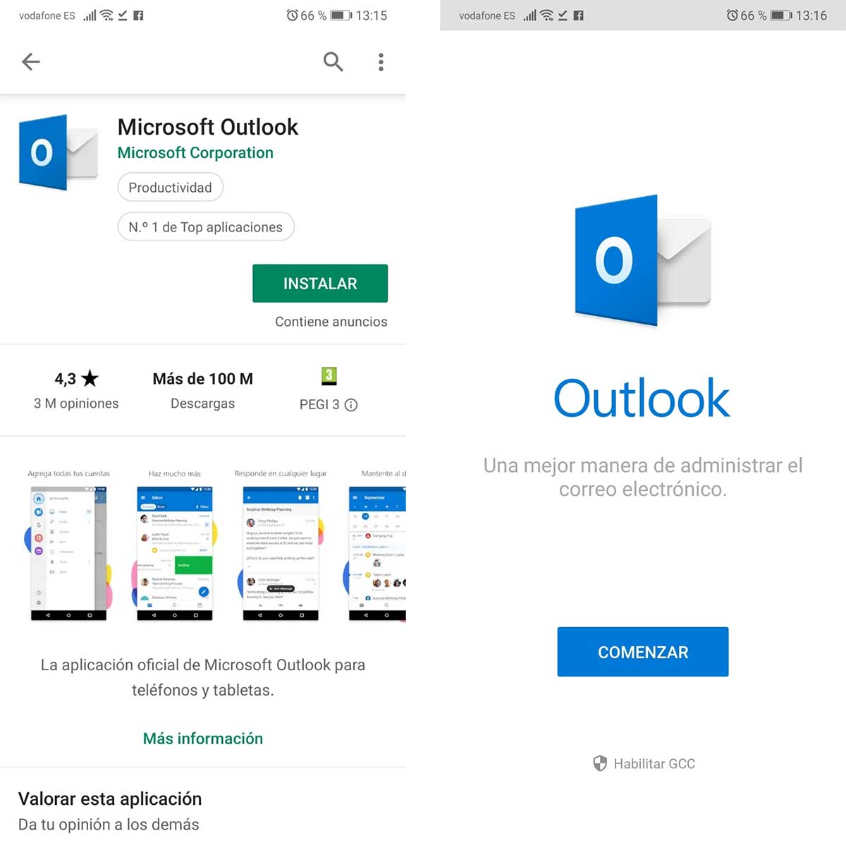 Hotmail on mobile
