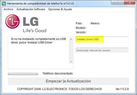 LG BC2App drivers USB