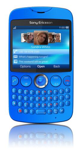 Sony ericsson TXT telcel azul