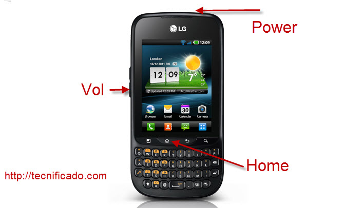 Hard reset LG Optimus Pro C660 Telcel