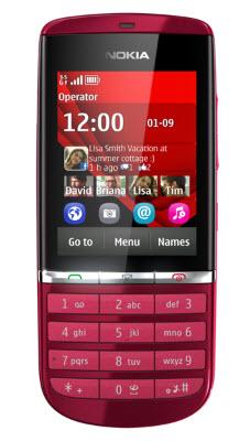 Nokia Asha 300 color rojo