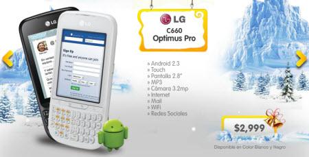 LG Optimus pro Unefon blanco