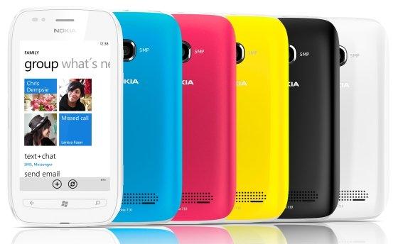 Nokia Lumia 710 colores