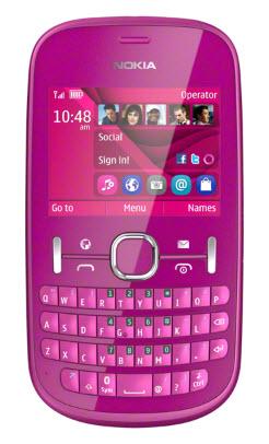 Nokia Asha 201 rosa
