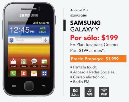 Samsung Galaxy Y S5360  Iusacell