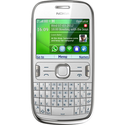 Asha 302 Blanco Movistar México