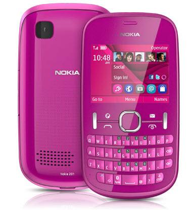 Asha 201 Telcel color rosa