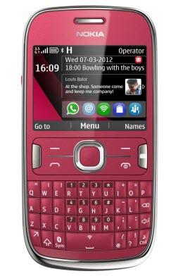 Nokia asha 302 Telcel color rojo