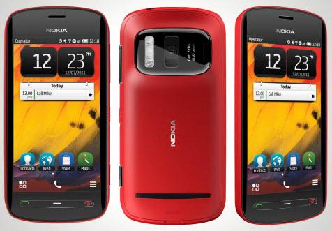 Nokia 808 Telcel color rojo