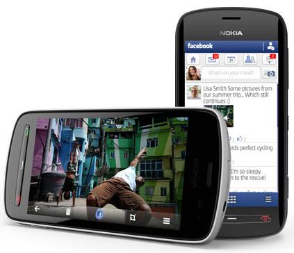 Nokia 808 compartir en facebook