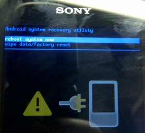Hard reset sony walkman serie Z