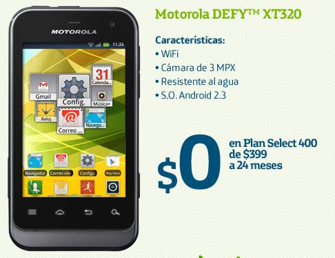 Motorola Defy XT320 Movistar México