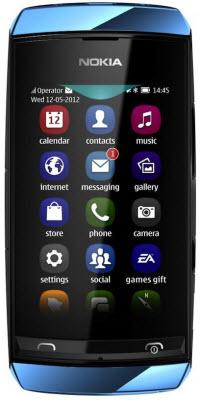 Nokia Asha 306 Telcel color azul