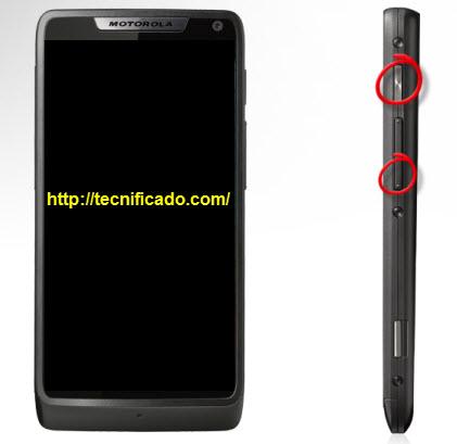 Hard reset Motorola Razr XT890
