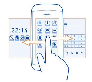 Nokia 306 pantallas