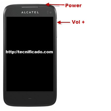 Hard reset alcatel ot997
