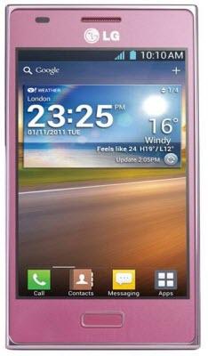LG E612 Telcel color rosa
