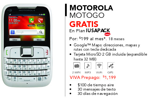 Motorola EX430 motoGo iusacell