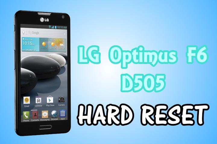 Hard Reset LG Optimus F6 - D505
