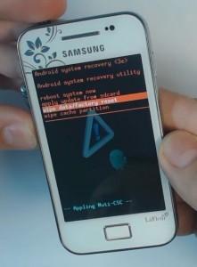 Como hacer Hard Reset Samsung Galaxy Ace