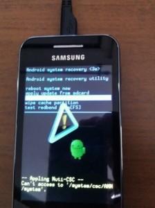 Pasos para hacer Hard Reset Samsung Galaxy Ace GT-S5830l